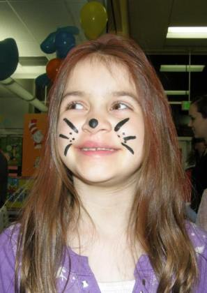 Anna with cat face paint