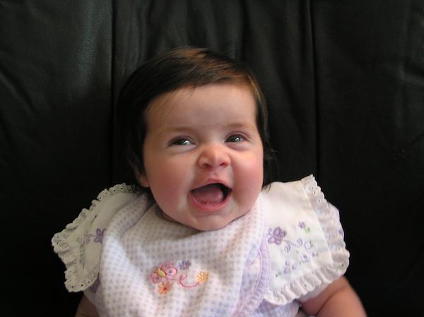 Happy baby Anna