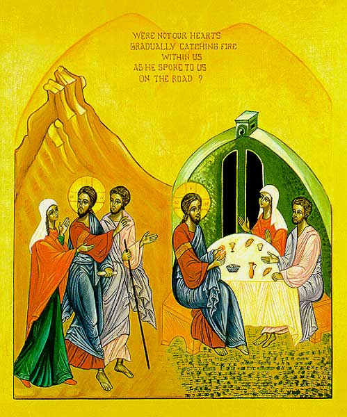 Road to Emmaus Icon