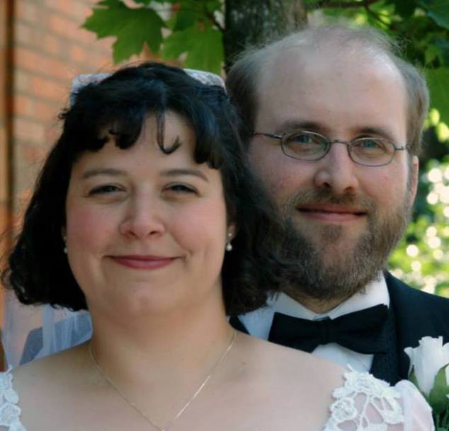 Julia and I after our wedding.
