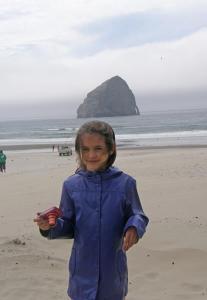 Anna on Pacific City beach