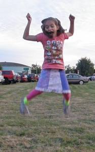 Anna jumping