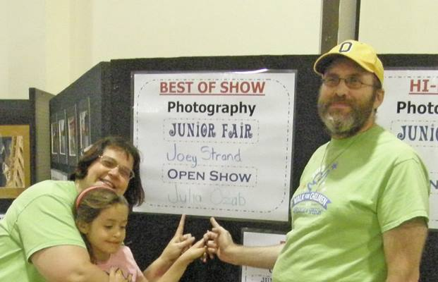 "And Julia won ""Best in Show"" for her eagle photo titled ""Majestic."""