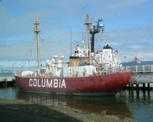 Columbia docked