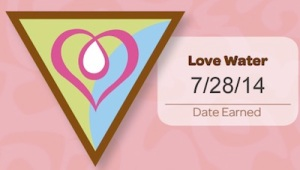 Love Water. Date Earned 7/28/14