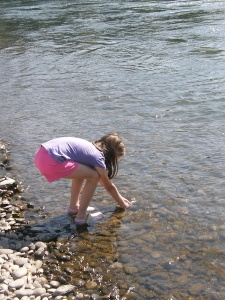 Anna collects river water