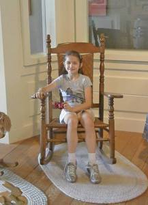 Anna in a rocking chair