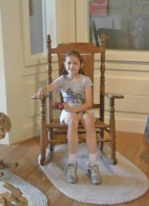 Anna in a rocking chair