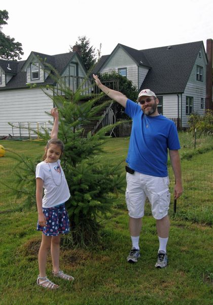 Anna and I with the tree (2014)