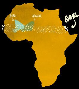 The Sahel region of Africa