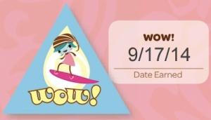 WOW! Date Earned 9/17/14