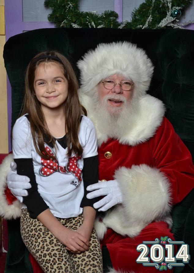 Anna and Santa 2014