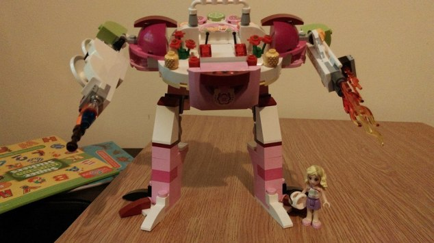 Robot made from a LEGO Juice Bar