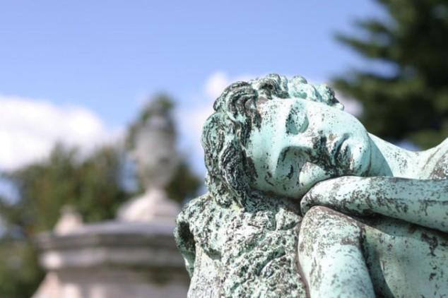 Sleeping Angel Cemetery Marker