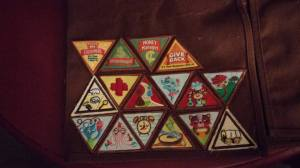 Brownie badges