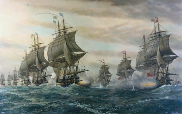 Second Battle of the Virginia Capes by V. Zveg (1962).