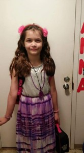 Anna's first day of fourth grade